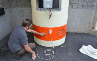 SPX Plastic Tank Heater Pad Installation