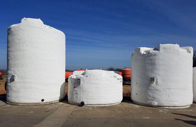 Three Insulated Tanks
